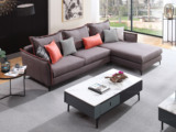 芬洛 现代简约 进口樟子松坚固框架 科技布  F31沙发组合(2+左贵妃)