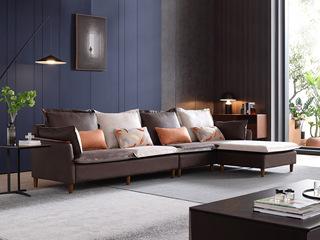 芬洛 现代简约 进口樟子松坚固框架 科技布 坐包双面布色 2030沙发组合(2+2+贵妃踏)