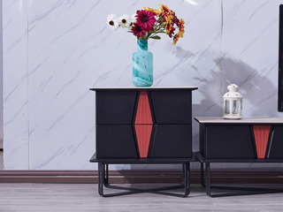 纳德威 极简风格 铁艺+陶瓷片斗柜