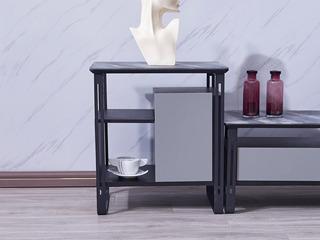 纳德威 极简风格 铁艺+防刮花玻璃斗柜