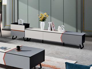 邦客世家 现代简约 钢化玻璃 斗柜