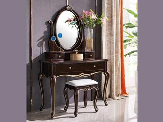 圣妮斯 简欧系列 实木边框 J-202梳妆台组合(妆台+妆镜)