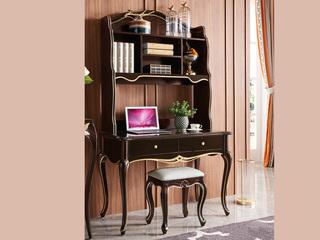 圣妮斯 简欧系列 实木边框 J-202 书桌组合(书台+书架)