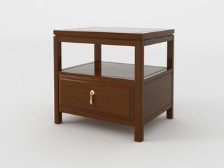 檀宫御品 新中式 黄金檀木 FA1905床头柜