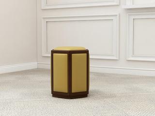 檀宫御品 新中式 黄金檀木 FA1901六角凳