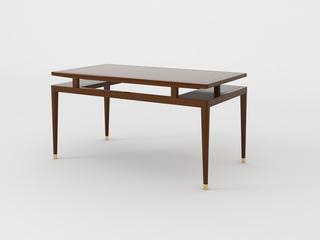 檀宫御品 新中式 黄金檀木 FA1905长餐台 1.5米餐桌