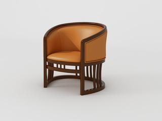 檀宫御品 新中式 黄金檀木 FA1901休闲椅
