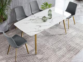 悦莱家居 轻奢风格 大理石 1.4米长餐桌