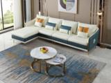 芬洛 轻奢风格 高端纳帕皮 北美进口落叶松框架 D01沙发组合 (2+2+脚踏) 不分方向