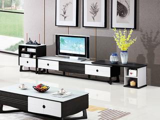 现代简约 防石纹钢化玻璃面 浅灰色+黑棕色D917地柜(不含边柜,不含搭板)