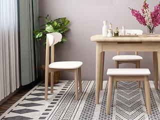 北欧风格 小户型经典时尚 餐椅(2把)