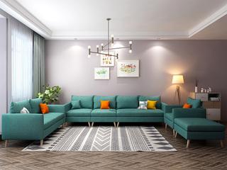 北欧风格 小户型经典时尚 沙发G(蓝)沙发组合(单人位+双人位+活动脚踏+单扶手1人位+无扶手1人位+单扶手3人位)沙发组合(单人位+双人位+活动脚踏+单扶手1人位+无扶手1人位+单扶手3人位)