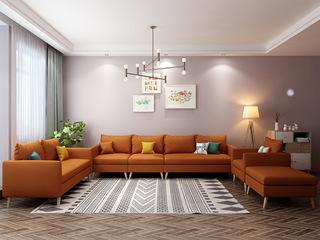 北欧风格 小户型经典时尚 沙发G(橙)沙发组合(单人位+双人位+活动脚踏+单扶手1人位+无扶手1人位+单扶手3人位)沙发组合(单人位+双人位+活动脚踏+单扶手1人位+无扶手1人位+单扶手3人位)
