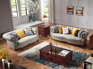 巴米尔 轻奢881沙发组合 进口头层皮 皮艺沙发组合(2+3)