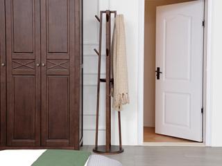 简美风情 美式风格 泰国进口橡胶木 浅咖色 挂衣架