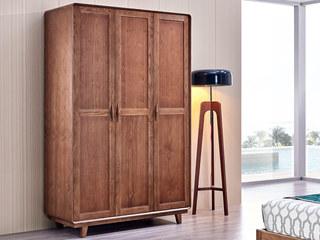 源木时光 北欧风格 北美进口白蜡木 三门衣柜
