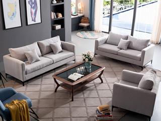 北欧风格  布艺沙发 沙发组合(1+2+3)
