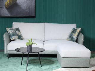简约轻奢布艺沙发 客厅小户型 科技布易打理 脚凳