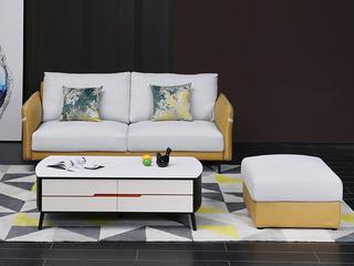 简约轻奢布艺沙发 客厅小户型 科技布易打理 三人沙发