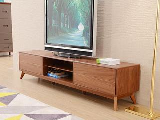 现代中式 客厅家具开放式储物 简易电视柜