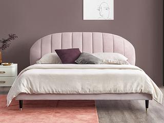 轻奢风格 高弹海绵 优质绒布1.8*2.0米床