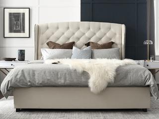 轻奢风格 高弹海绵 优质棉麻布料1.8*2.0米床