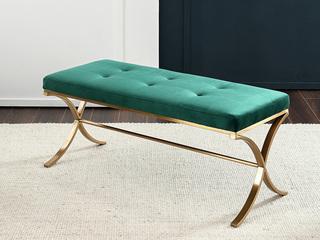 卡伦斯特 轻奢风格 优质实木 高档绒布 床尾凳
