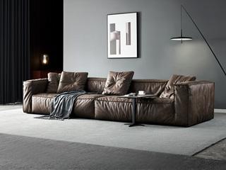 极简风格 科技布+羽绒 实木底框架 沙发组合(单扶双+单扶双)