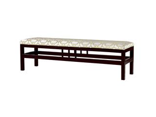 墨舍 新中式 东南亚进口红檀木 高精密提花面料 W992 床尾凳
