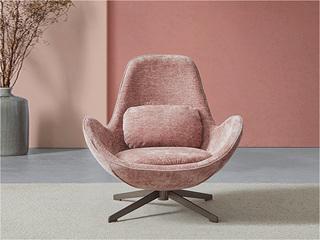 卡伦斯特 轻奢风格 高级灯芯绒 高级羽绒+咖啡金铁脚休闲椅