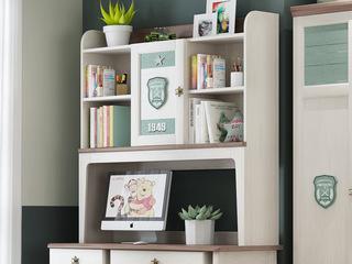 柏莎贝尔 简美风格 主材北美白蜡木 新西兰松木 北美红橡木 深咖色 象牙白 双拼色 儿童书架