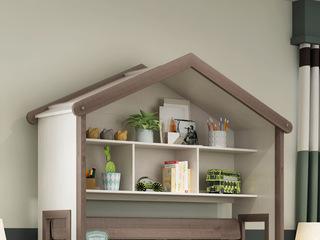 简美风格 主材北美白蜡木 新西兰松木 深咖色 象牙白 通用展示架