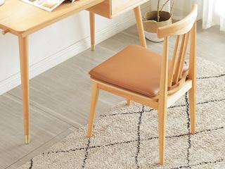 慕森 北欧风格 榉木主材坚固框架 原木色 软垫餐椅
