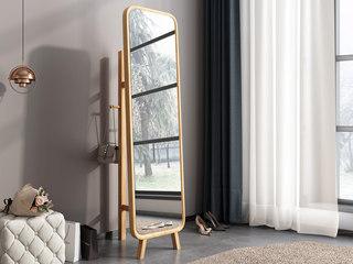 欧北之光 北欧风格 优质泰国进口橡胶木 水性环保油漆 试衣镜