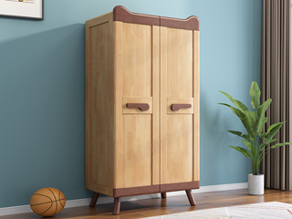 欧北之光 北欧风格 优质泰国进口橡胶木 水性环保油漆 儿童衣柜