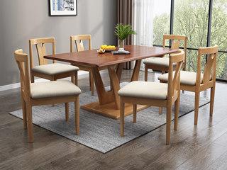 欧北之光 北欧风格 泰国进口橡胶木 1.3m方餐桌