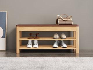 欧北之光 北欧风格 泰国进口橡胶木 换鞋凳