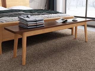 欧北之光 北欧风格 泰国进口橡胶木 床尾凳