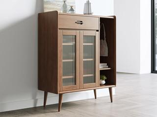 北欧风格 榉木坚固框架 胡桃色 鞋柜
