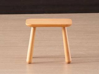 慕森 北欧风格 榉木坚固框架 原木色 小方凳