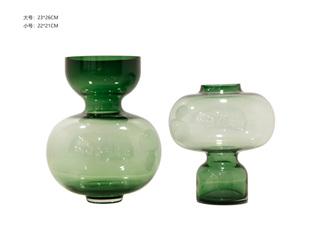 现代简约 玻璃KLXD0092AB装饰摆件组合(A+B)