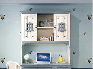 柏莎贝尔 简美风格 优质橡胶木 环保健康 明朗天蓝 儿童书架