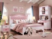 柏莎贝尔 简美风格 优质橡胶木 环保健康 坚固耐用 孩子放心睡 1.2m儿童床