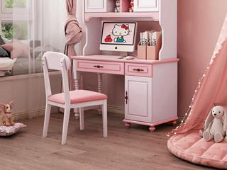 柏莎贝尔 简美风格 优质橡胶木 皮艺 书椅