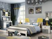 柏莎贝尔 简美风格 优质橡胶木 环保健康 坚固耐用 1.5m儿童床