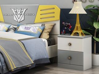 柏莎贝尔 简美风格 优质橡胶木 环保健康 儿童床头柜