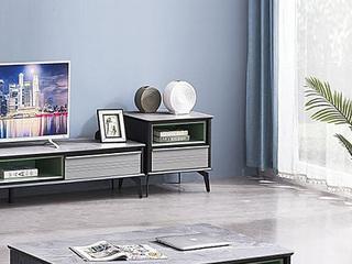 现代风格 实木框架 磨砂玻璃面 斗柜