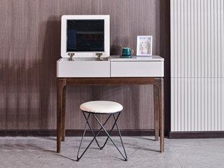 科隆印象 现代简约 橡胶木 妆台(含圆凳)