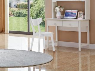 宸轩 简美风格 泰国进口橡胶木 白色椅子