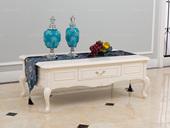 博洛妮亚 进口桃花心客厅仿古白颜色1.6米茶几